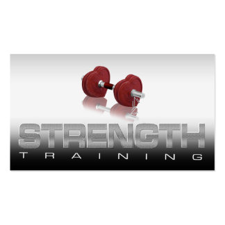 Strength Training Schedule Card Business Card