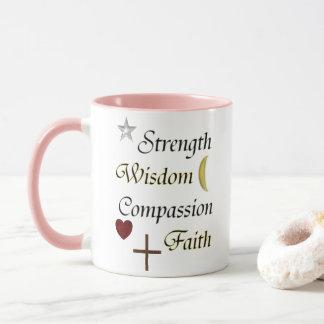 Strength Wisdom Compassion Faith Mug
