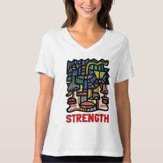 """Strength"" Women's Relaxed Fit V-Neck T-Shirt"