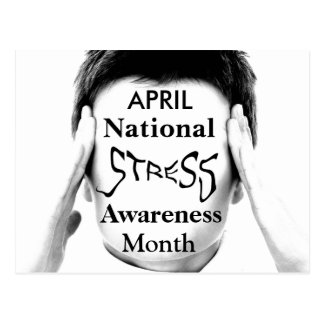 Stress Awareness Month Postcard