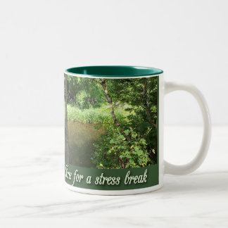 Stress Break Two-Tone Coffee Mug