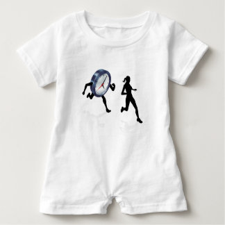 Stress Clock Race Concept Baby Romper
