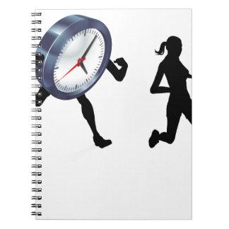 Stress Clock Race Concept Spiral Note Book