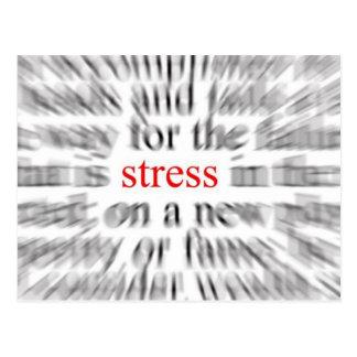 Stress Postcard