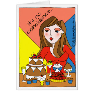 Stressed Desserts Sweet Tooth Stress Eating Card