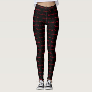 Stressed Out Leggings (Red and Black Leggings)