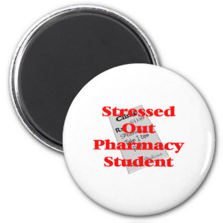 stressed out pharmacy student 2 inch round magnet
