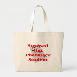 stressed out pharmacy student jumbo tote bag