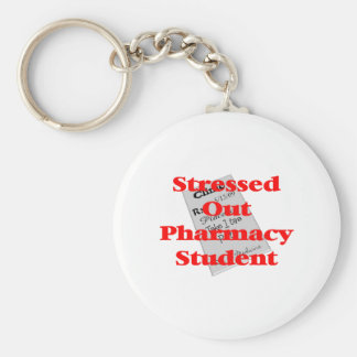 stressed out pharmacy student keychain