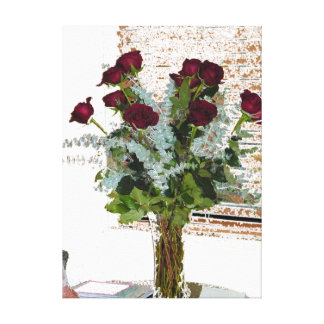 Stressed Roses Canvas Print