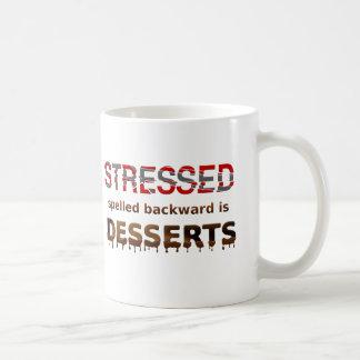 Stressed Spelled Backwards Is Desserts Basic White Mug