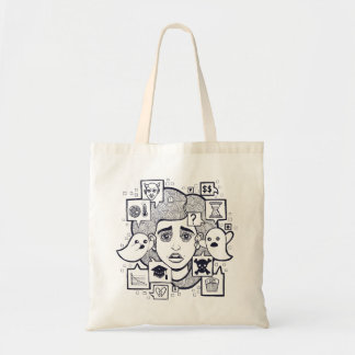 """Stresshead"" Anxious Stressed Woman Drawing Tote"