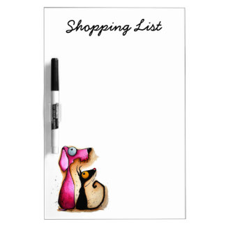 Stressie Cat Shopping List Dry Erase Board