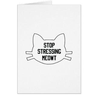 Stressing Meowt Card