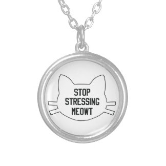 Stressing Meowt Silver Plated Necklace