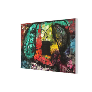 """Stretched"" Abstract Original Painting Canvas Print"