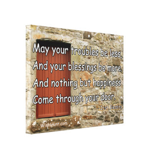Stretched Canvas Irish Blessing by WishHunt Stretched Canvas Prints