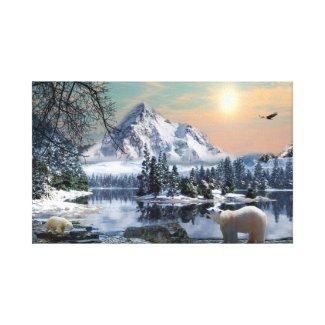 Stretched Canvas - Polar Bear