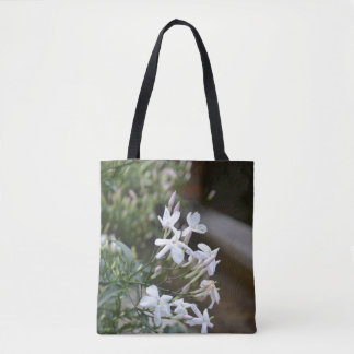 Stretching Flowers Tote Bag