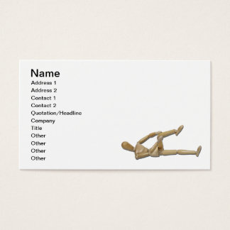 Stretching Knee and Shoulders Business Card