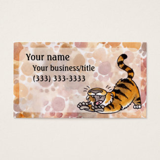 Stretching Tiger Business Card