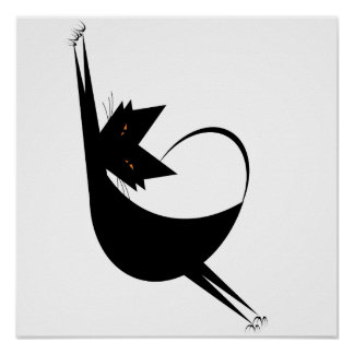 Stretchy Cat Poster