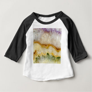 Striated Amethyst in Purple Gold & Green Baby T-Shirt