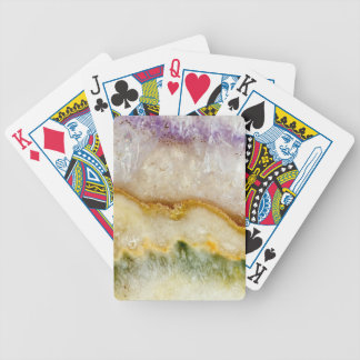 Striated Amethyst in Purple Gold & Green Bicycle Playing Cards
