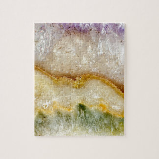 Striated Amethyst in Purple Gold & Green Jigsaw Puzzle