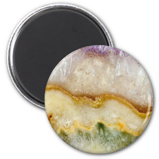 Striated Amethyst in Purple Gold & Green Magnet