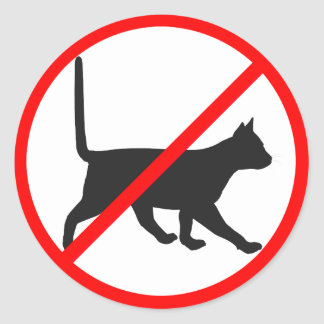 Strictly Forbidden For Cats! Classic Round Sticker