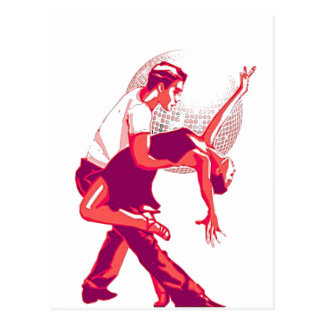 Strictly Salsa Red Shades Postcard