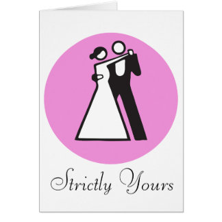Strictly yours   icon of dancers card