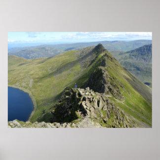Striding Edge - English Lake District Poster
