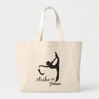 Strike a Pose ~ Dancer & Yoga Inspired Creative Large Tote Bag