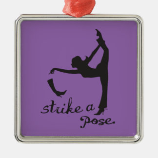 Strike a Pose ~ Dancer & Yoga Inspired Creative Metal Ornament