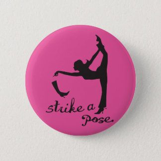 Strike a Pose ~ Yoga & Dancer Inspired Creative 2 Inch Round Button
