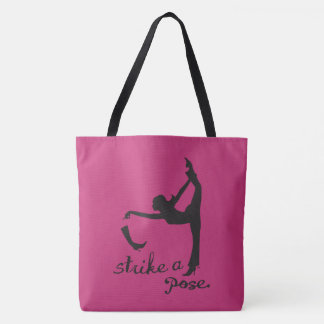 Strike a Pose ~ Yoga Inspired Fashion Tote Bag