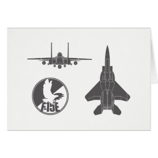 Strike Eagle Jet Night and Day Note Card