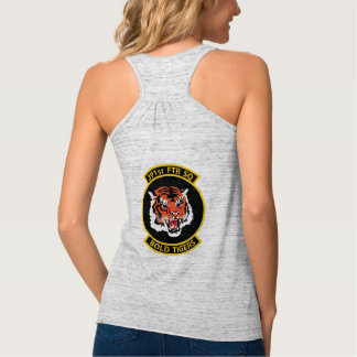Strike Eagle with Custom Text and Bold Tiger Patch Tank Top
