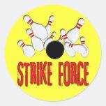 STRIKE FORCE ROUND STICKERS