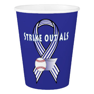 Strike Out Amyotropic Lateral Sclerosis ALS Paper Cup