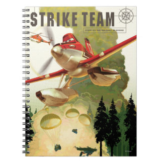 Strike Team Illustration Spiral Notebooks