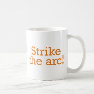 Strike the arc! basic white mug