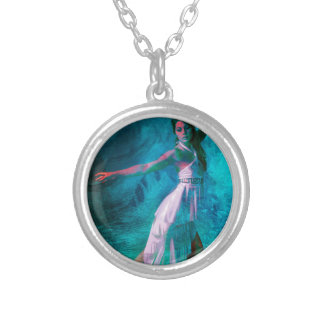 STRIKING A BALANCE SILVER PLATED NECKLACE