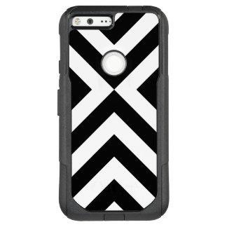 Striking Black and White Chevrons OtterBox Commuter Google Pixel XL Case
