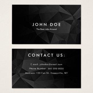 Striking Black Polygon Business Card