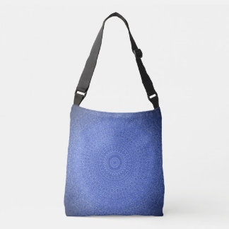 Striking Blue Mandala Cross Body Bag