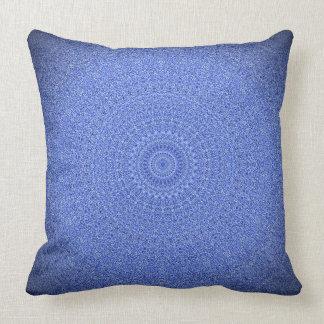 Striking Blue Mandala Throw Pillow