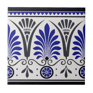 Striking Cobalt Blue & Black Ceramic Border Tile